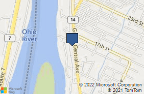Bing Map of 1509 Grand Central Ave Ste 6 Vienna, WV 26105