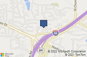 Bing Map of 1512 N Church Rd Ste A Liberty, MO 64068