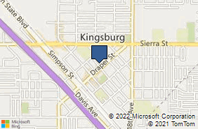 Bing Map of 1512 Smith St Kingsburg, CA 93631