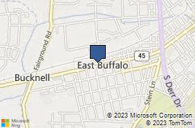 Bing Map of 1524 W Market St Lewisburg, PA 17837