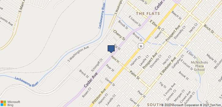 1532 Cedar Ave Scranton, PA, 18505 Map
