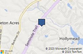 Bing Map of 1532 Insurance Ln Charlottesville, VA 22911