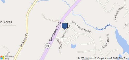 Bing Map of 1532 Insurance Ln Charlottesville, VA 22911