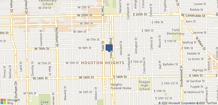 1533 Heights Boulevard Houston, TX, 77008 Map