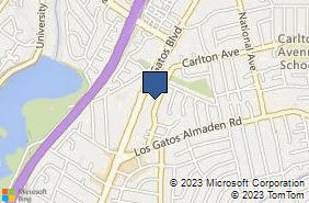 Bing Map of 15466 Los Gatos Blvd Ste 205 Los Gatos, CA 95032