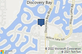 Bing Map of 1555 Riverlake Rd Ste D Discovery Bay, CA 94505