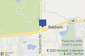 Bing Map of 1569 N Quentin Rd Palatine, IL 60074