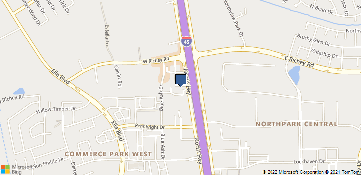 15729 North Fwy Houston, TX, 77090 Map