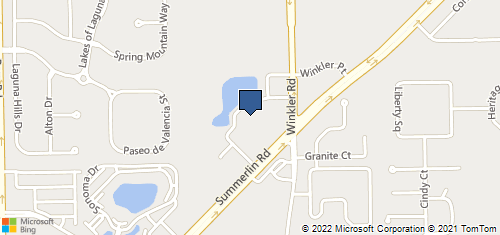 Bing Map of 15880 Summerlin Rd Ste 306 Fort Myers, FL 33908