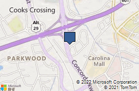 Bing Map of 1592 Concord Pkwy N Concord, NC 28025
