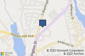 Bing Map of 16 E Washington St Ste 3 North Attleboro, MA 02760