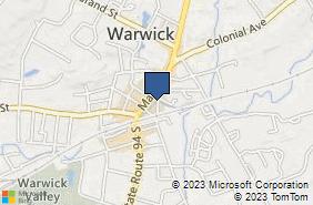Bing Map of 16 South St Warwick, NY 10990
