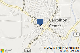 Bing Map of 160 2nd St Sw Carrollton, OH 44615