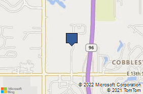 Bing Map of 1603 N Chapel Hill St Ste 100 Wichita, KS 67206