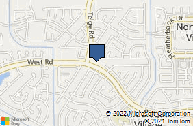 Bing Map of 16038 West Rd Houston, TX 77095