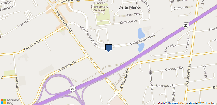 1605 Valley Center Parkway Suite 160  Bethlehem, PA, 18017 Map