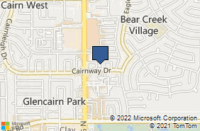 Bing Map of 16100 Cairnway Dr Ste 275 Houston, TX 77084