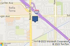 Bing Map of 16168 Beach Blvd Ste 115 Huntington Beach, CA 92647