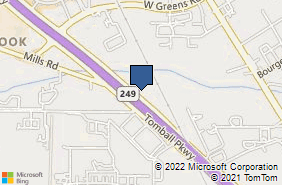 Bing Map of 16310 Tomball Pkwy Ste 301 Houston, TX 77064