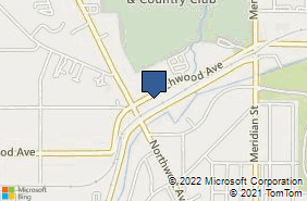 Bing Map of 1633 Birchwood Ave Ste 103 Bellingham, WA 98225