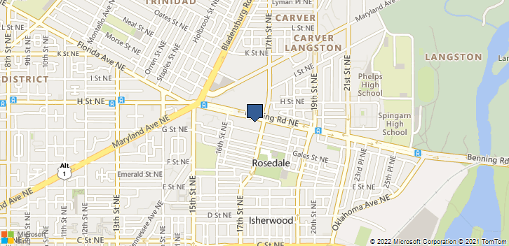 1647 Benning Rd Ne Washington, DC, 20002 Map
