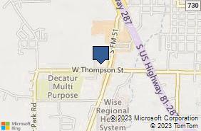 Bing Map of 1650 S Fm 51 Ste 700 Decatur, TX 76234