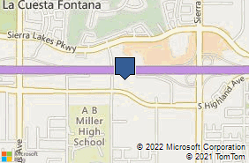 Bing Map of 16570 S Highland Ave Fontana, CA 92336