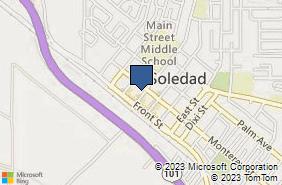Bing Map of 167 Main St Ste A Soledad, CA 93960