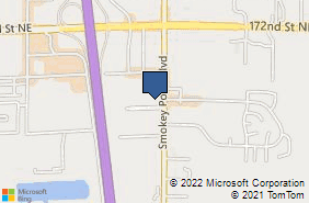 Bing Map of 16716 Smokey Point Blvd # B Arlington, WA 98223
