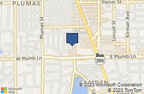 Bing Map of 1675 Lakeside Dr Reno, NV 89509