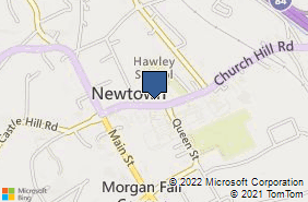 Bing Map of 17 Church Hill Rd Newtown, CT 06470