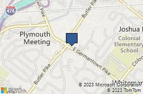 Bing Map of 17 E Germantown Pike Plymouth Meeting, PA 19462