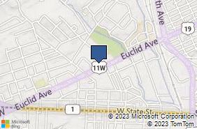 Bing Map of 1701 Euclid Ave Ste C Bristol, VA 24201