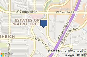 Bing Map of 1701 N Collins Blvd Ste 336 Richardson, TX 75080