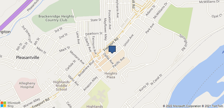 1709 Union Ave Natrona Heights, PA, 15065 Map
