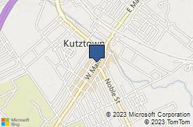 Bing Map of 171 W Main St Kutztown, PA 19530