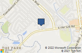 Bing Map of 17131 Townes Rd Friendswood, TX 77546
