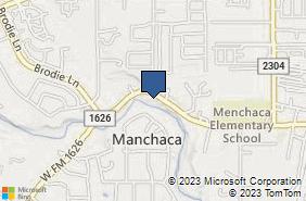 Bing Map of 1715 Fm 1626 Ste 200 Manchaca, TX 78652