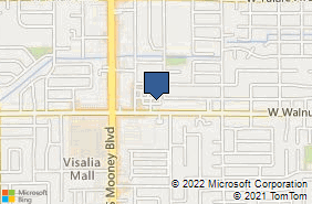 Bing Map of 1720 W Walnut Ave Visalia, CA 93277