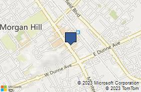 Bing Map of 17200 Monterey St Ste A Morgan Hill, CA 95037