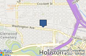 Bing Map of 1722 Washington Ave Apt B Houston, TX 77007