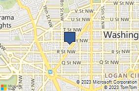 Bing Map of 1726 Conn Ave Nw Ste 200 Washington, DC 20009