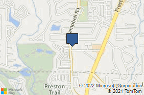 Bing Map of 17430 Campbell Rd Ste 206 Dallas, TX 75252
