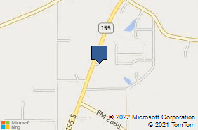 Bing Map of 17435 State Highway 155 S Flint, TX 75762