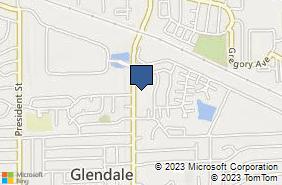 Bing Map of 1793 Bloomingdale Rd Ste 12 Glendale Heights, IL 60139