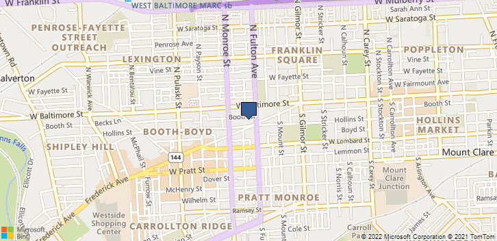 1800 Hollins St Baltimore, MD, 21223 Map