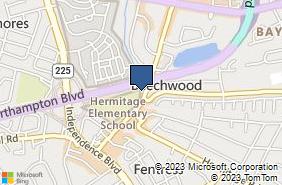 Bing Map of 1801 Pleasure House Rd Ste 102 Virginia Beach, VA 23455