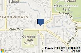 Bing Map of 1803 Cirby Way Ste 1 Roseville, CA 95661