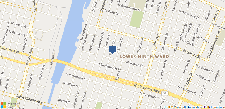 1817 Forstall Street New Orleans, LA, 70117 Map