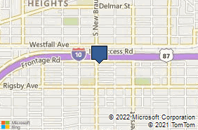 Bing Map of 1818 S New Braunfels Ave Ste 2 San Antonio, TX 78210